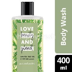 Love Beauty And Planet Sabun Pure and Positive Tree Tea Oil & Aroma Vetiver