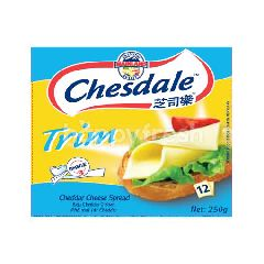 Chesdale Cheese Cheddar Trim Slices Spread (12 Slices)