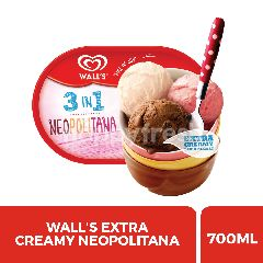 Wall's Ekstra Creamy 3-in-1 Neopolitana Ice Cream 700ml