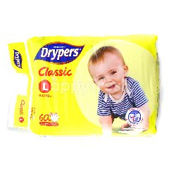 Drypers Classic Diapers L60