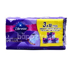 LIBRESSE Maxi Long & Wide Fit Night Secure 32cm Pads (3 Packets)