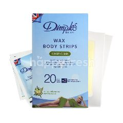Dimples Wax Body Strips - Sensitive Skin 20's