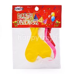 SUNDINO Heart Shape Balloon (4 Pieces)