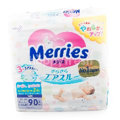 Merries Tape Newborn Baby Diaper Pants (90 Pieces)