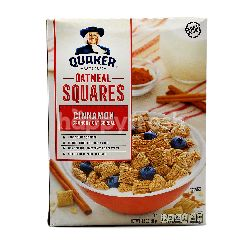 Quakers Oatmeal Square Cinnamon Crunchy Oat Cereal