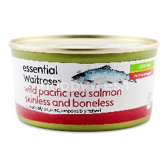 Essential Waitrose Wild Pacific Red Salmon Skinless And Boneless