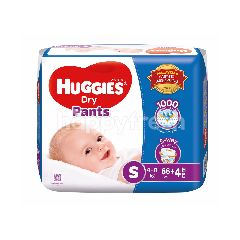Huggies Dry Pants Super Value Pack Diapers S66+4
