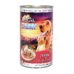 ALPS NATURAL Pork Flavoured Chunk Dog Wet Food