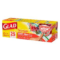 Glad Storage Quart Zipper Bags