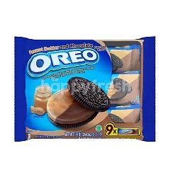 Oreo Peanut Butter And Chocolate Flavored Cream Chocolate Sandwich Cookies (9 Packs)